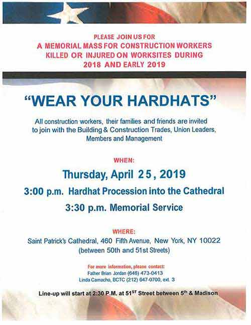 2019-MEMORIAL Mass for Construction Workers
